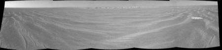 Opportunity's view of the rim of 'Victoria Crater.'
