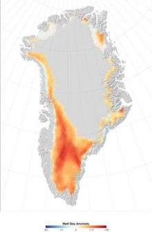 NASA finds Greenland snow melting hit record high in high places