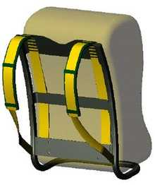 Backpack straps harvest energy to power electronics