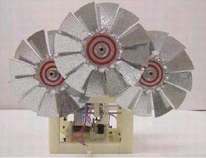 Handheld windmills serve as electric generators