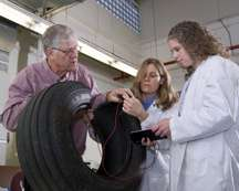 New smart tire senses damage, increases safety
