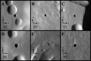 Odyssey Finds Possible Cave Skylights on Mars