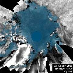 Arctic Ice Coverage Between June and mid-August 2008