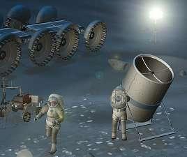 A Telescope Made of Moondust