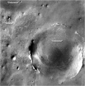 Bigger Crater Farther South of 'Victoria' on Mars