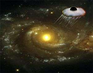 Black hole expelled from its parent galaxy