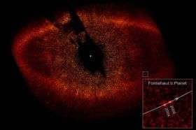 Hubble directly observes planet orbiting Fomalhaut