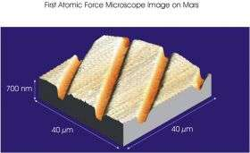 Swiss nano-microscope delivers first images recorded on Mars
