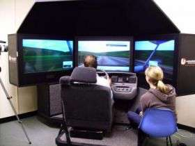 Operating a Driving Simulator