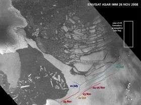 Wilkins Ice Shelf under threat
