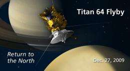 Cassini Spacecraft to Monitor North Pole on Titan