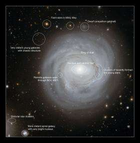 Exceptionally deep view of strange galaxy