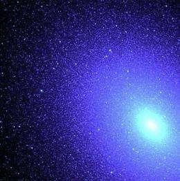 NASA image shows hot blue stars deep inside an elliptical galaxy