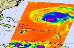 NASA watches as Hurricane Bill sweeps over Bermuda