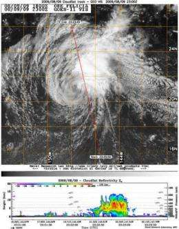NASA satellites catch two views of Felicia already affecting Hawaii
