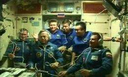 Space station crew finally at full staff of six