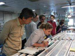 Scientists return from first ever riser drilling operations in seismogenic zone
