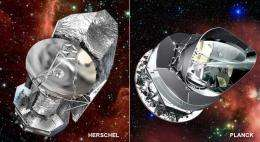 Herschel and Planck Share Ride to Space