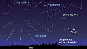 Perseid Meteor Shower Peaks Tuesday, Aug. 12