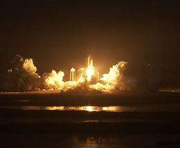 Shuttle Discovery Launches to Fully Power Space Station
