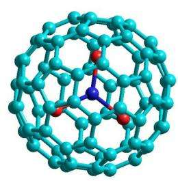 Carbon nanoballs as data storage units
