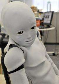 """A """"Child-robot with Biomimetic Body"""" or CB2,"""