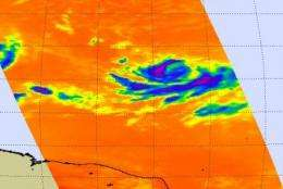 Ana's path being mapped by NASA Satellites; she's drenching Puerto Rico