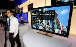 A Samsung 1.19-inch thick, 55-inch LED 8000 edge-lit television