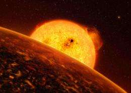Cloudy with a chance of pebble showers: Simulation suggests rocky exoplanet has bizarre atmosphere