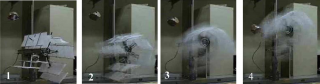 Cyclogyro Flying Robot Improves its Angles of Attack