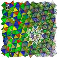 Entropy alone creates complex crystals from simple shapes, study shows
