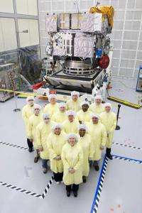 GOES-P satellite preparing for launch in March 2010