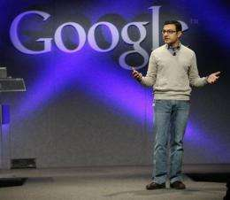 Google search results to include 'real-time' data (AP)
