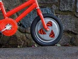Gyrowheel to keep new bike riders upright