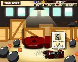 """Handout image from Ubisoft shows a screen shot of  the """"TickTock"""" computer game"""