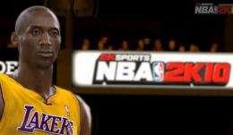 Lakers' Kobe Bryant talks `NBA 2K10' video game (AP)