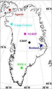 Melting of the Greenland ice sheet mapped