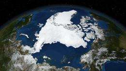 NASA Blue Marble captures ice conditions at the end of the melt season in the Arctic