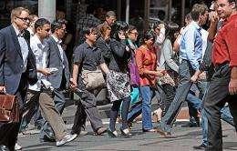 Pedestrians in Sydney