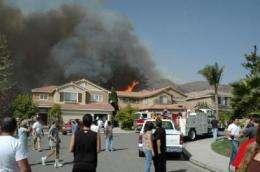 Santiago Canyon Fire