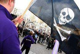 Supporters of the web site 'The Pirate Bay'