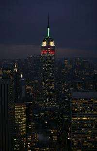 The Empire State Building as viewed from the Rockefeller Center