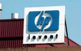 US computer giant Hewlett-Packard reported a 17-percent fall in quarterly net profit