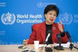 WHO chief: swine flu pandemic continues (AP)