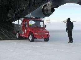 Antarctica's ice puts electric vehicles to test