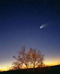 Comet collision to come?