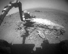 Endeavour crater provides possible evidence of past water