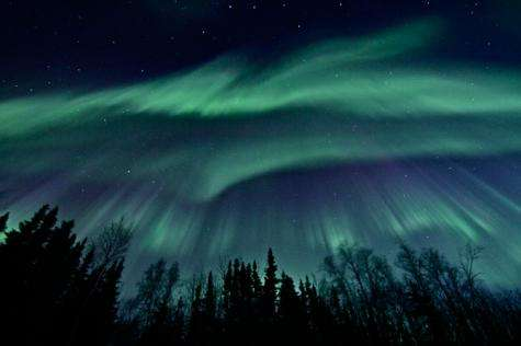 Geomagnetic storm subsiding