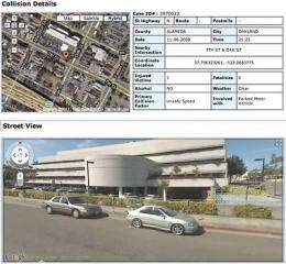 New site maps state's severe traffic collisions