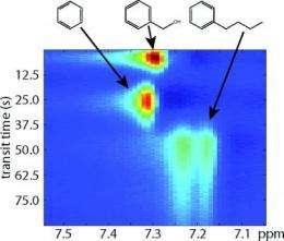 Researchers apply NMR/MRI to microfluidic chromatography